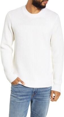 BHLDN Minnelli Regular Fit White Crewneck Sweater