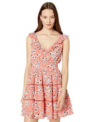 Jack Women's Secret Flowers Printed V-Neck Dress