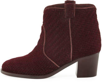Laurence Dacade Nikki Woven Velvet 50mm Booties