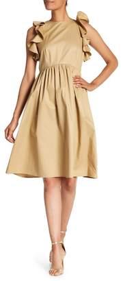 Tahari Ruffled Fit & Flare Dress