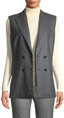 Max Mara Women's Wool and Silk Blend Sondolo Double Breasted Vest