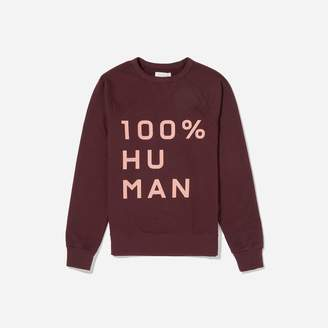 Everlane The 100% Human Woman Unisex French Terry Sweatshirt in Large Print