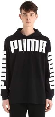 Puma Select Logo Hooded Cotton Blend Sweatshirt