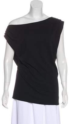 Halston Asymmetrical Sleeveless Top