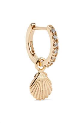 Sebastian SARAH & Shell 9-karat Gold Diamond Hoop Earring