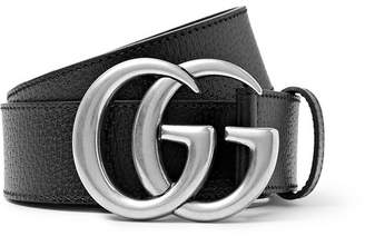 Gucci 4cm Black Full-Grain Leather Belt - Men - Black