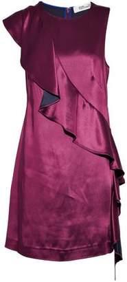Diane von Furstenberg Ruffled Satin Mini Dress