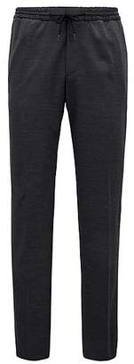 HUGO BOSS Trousers in a virgin-wool blend with elasticised waist