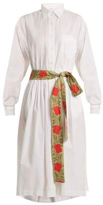 Rhode Resort - Laura Point Collar Cotton Shirtdress - Womens - White