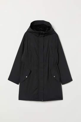 H&M H&M+ Hooded Parka - Black