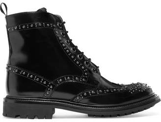 Church's Angelina Studded Glossed-leather Ankle Boots