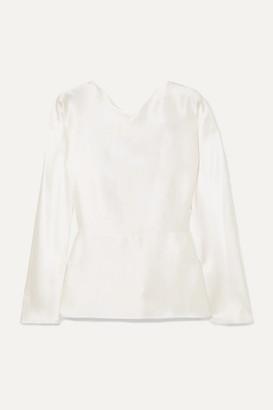 Deitas Mia Knotted Silk-satin Blouse - Ivory