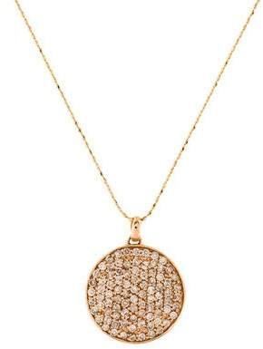 Sydney Evan 14K Diamond Medium Disc Pendant Necklace
