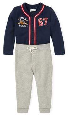 Ralph Lauren Childrenswear Baby Boy's Polo Bear Baseball Jersey