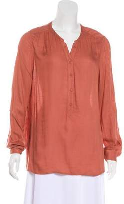 Joie Long Sleeve Button-Up Blouse
