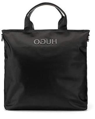 HUGO BOSS Record-style tote bag with rubberised reverse logo
