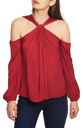 1 STATE 1.STATE Twist Neck Cold Shoulder Blouse