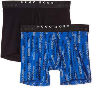 HUGO BOSS Men's Boxer Brief 2p Print 10163431 01