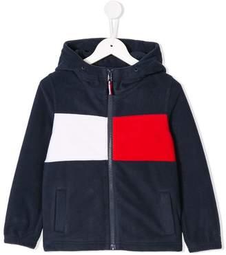 Tommy Hilfiger Junior block stripe fleece jacket