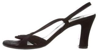 Giorgio Armani Suede Slingback Sandals