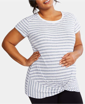 db4b11ce47 Motherhood Maternity Plus Size Twist-Front T-Shirt