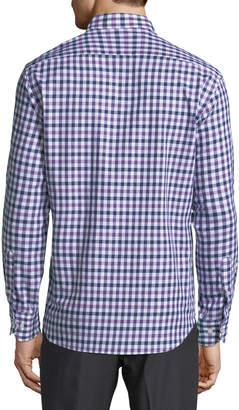 Tailorbyrd Men's Gingham Check Woven Sport Shirt