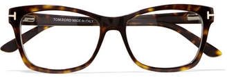 Tom Ford Square-frame Tortoiseshell Acetate Optical Glasses