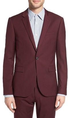 Men's Topman Burgundy Slim Fit Suit Jacket $220 thestylecure.com