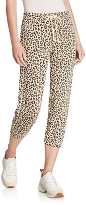 Alternative Apparel Printed Cropped Elastic Cuff Sweatpants