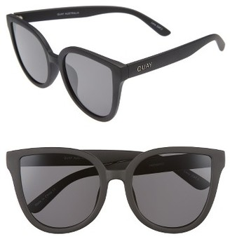 Women's Quay Australia Paradiso 52Mm Cat Eye Sunglasses - Black/ Smoke $50 thestylecure.com