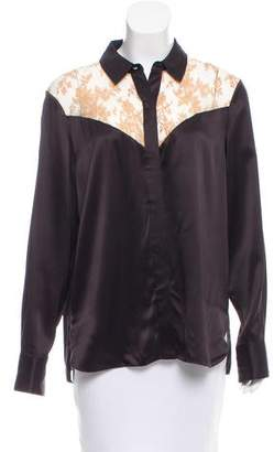 Rag & Bone Silk Long Sleeve Top