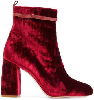 RED Valentino velvet ankle boots