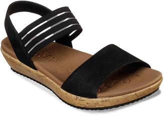 049a485f57c2 Skechers Black Platform Women s Sandals - ShopStyle