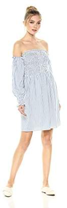Ella Moon Women's Reeva 3/4 Sleeve Fit and Flare Dress with Smocking Details