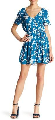 Love Stitch Front Button Printed Dress