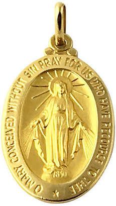 One Kings Lane Vintage Virgin Mary Gold Medallion Pendant - Owl's Roost Antiques