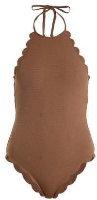 Marysia Swim Mott Scallop Edged Swimsuit - Womens - Brown