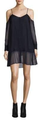 Each X Other Silk Mousseline Cold-Shoulder Dress