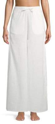 Onia Chloe Wide-Leg Linen & Cotton Cover-Up Pants