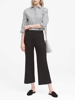 Banana Republic JAPAN ONLINE EXCLUSIVE Blake Wide Leg-Fit Cropped Ponte Pull-On Pant