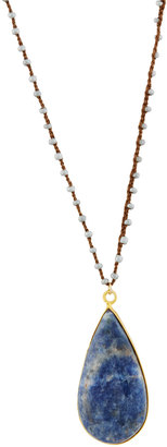 Native Gem Jewelry Marlow Long Beaded Sodalite Pendant Necklace $80 thestylecure.com