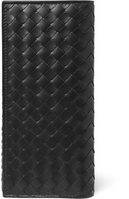 Bottega Veneta Intrecciato Leather Chest Pocket Wallet - Men - Black