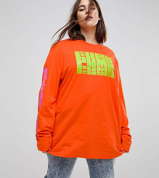 Puma Exclusive To ASOS Plus Long Sleeve T-Shirt In Red