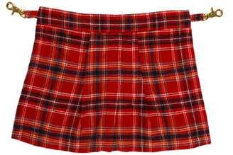 Enfants Riches Deprimes Plaid Wool Kilt Accent w/ Tags
