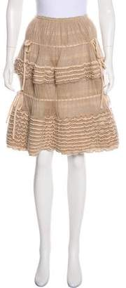 Alaia Knee-Length Fit & Flare Skirt