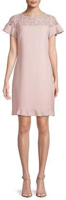 Karl Lagerfeld Paris Lace-Paneled Shift Dress