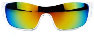 Revo SA106 Mens Color Lens Futuristic Robot Sport Shield Warp Sunglasses