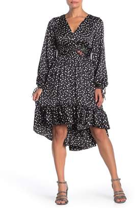 Betsey Johnson High/Low Punch Hole Polka Dot Print Dress