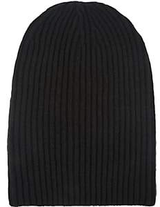 Barneys New York Women's English Rib-Knit Beanie-Black