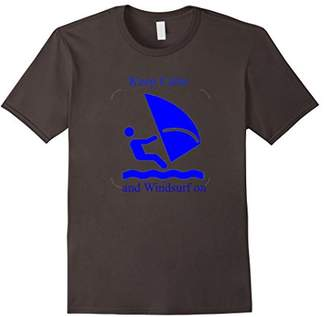 Keep Calm and Windsurf On Sailing T-shirt